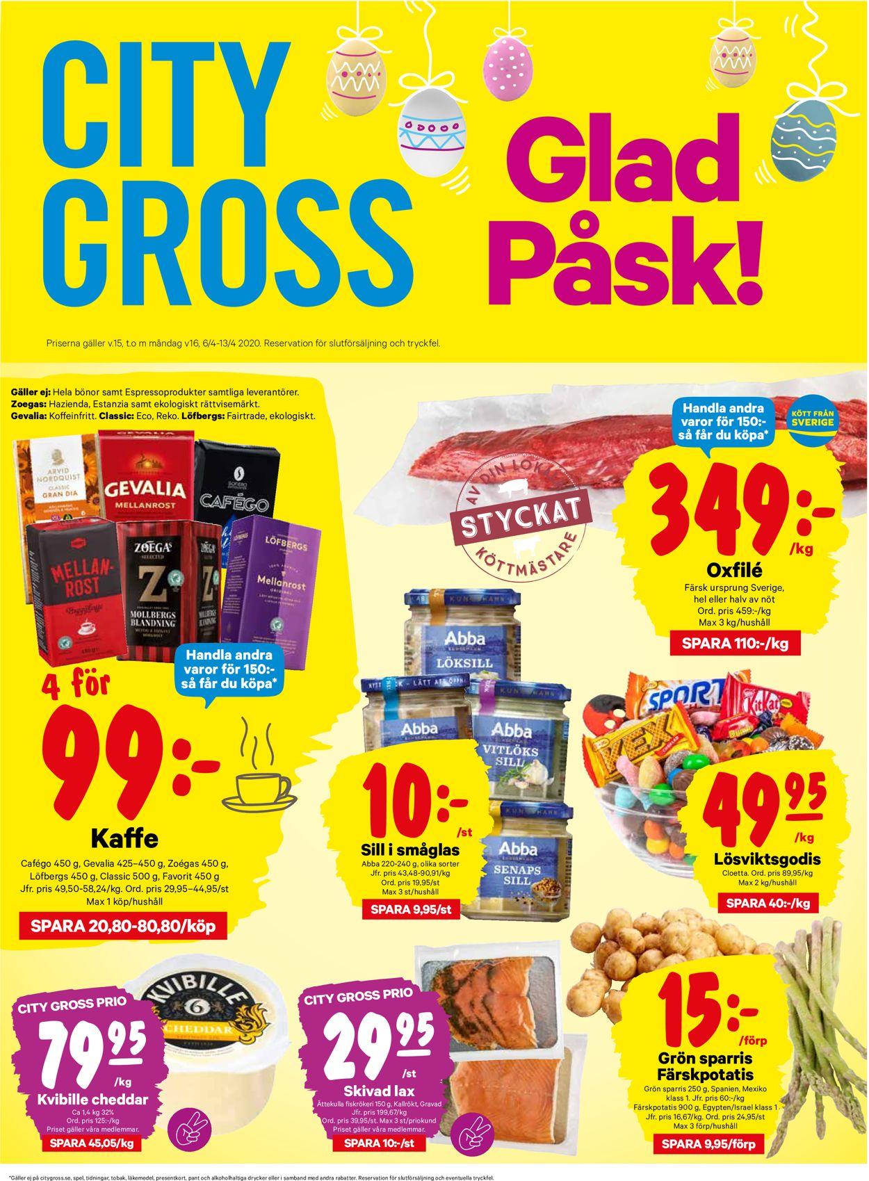 City Gross - Reklamblad - 06/04-13/04-2020
