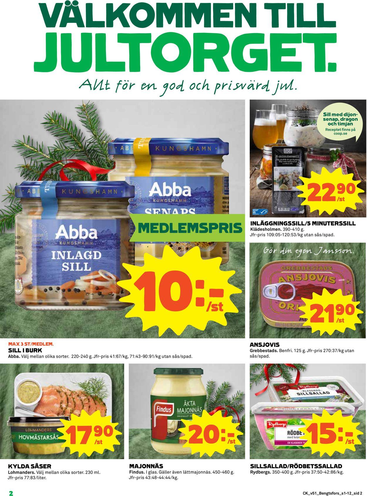 Aktuell annons Coop Julen 2019 - Reklamblad - 16/12-25/12-2019 (Sida 2)