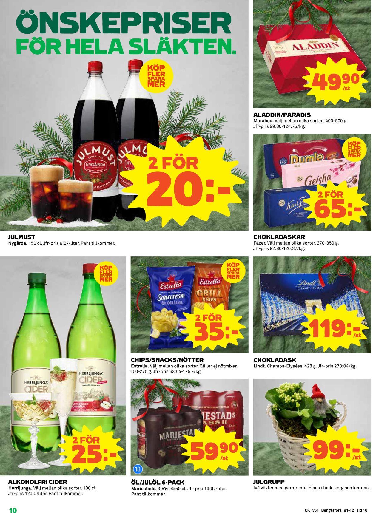 Aktuell annons Coop Julen 2019 - Reklamblad - 16/12-25/12-2019 (Sida 10)