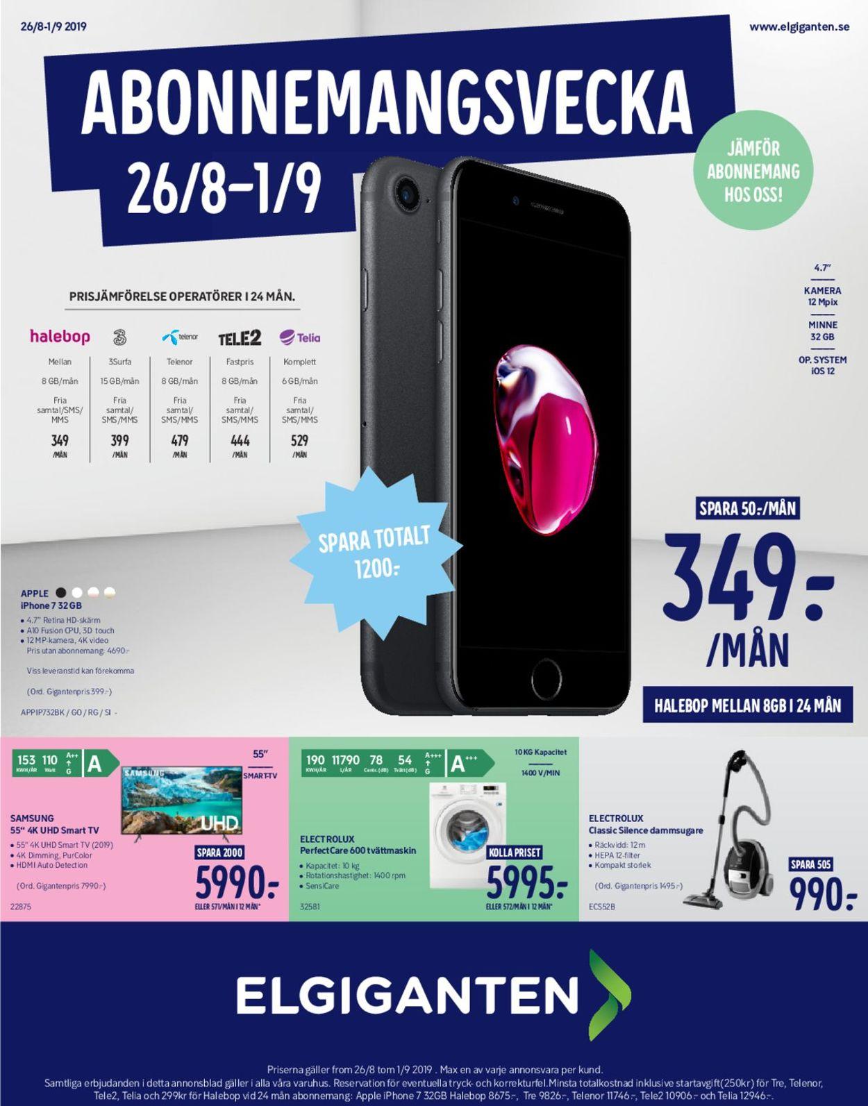 Elgiganten - Reklamblad - 26/08-01/09-2019
