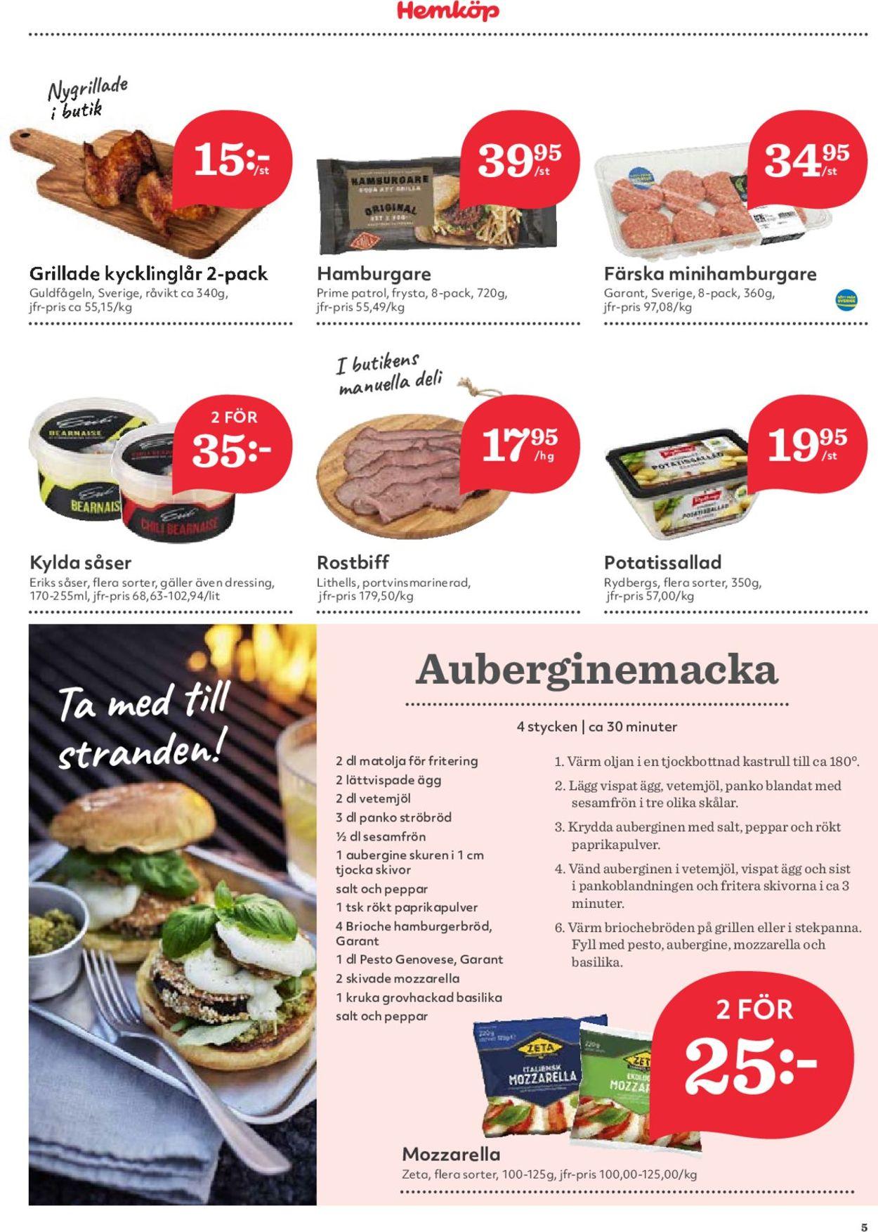Hemköp - Reklamblad - 15/07-21/07-2019 (Sida 5)