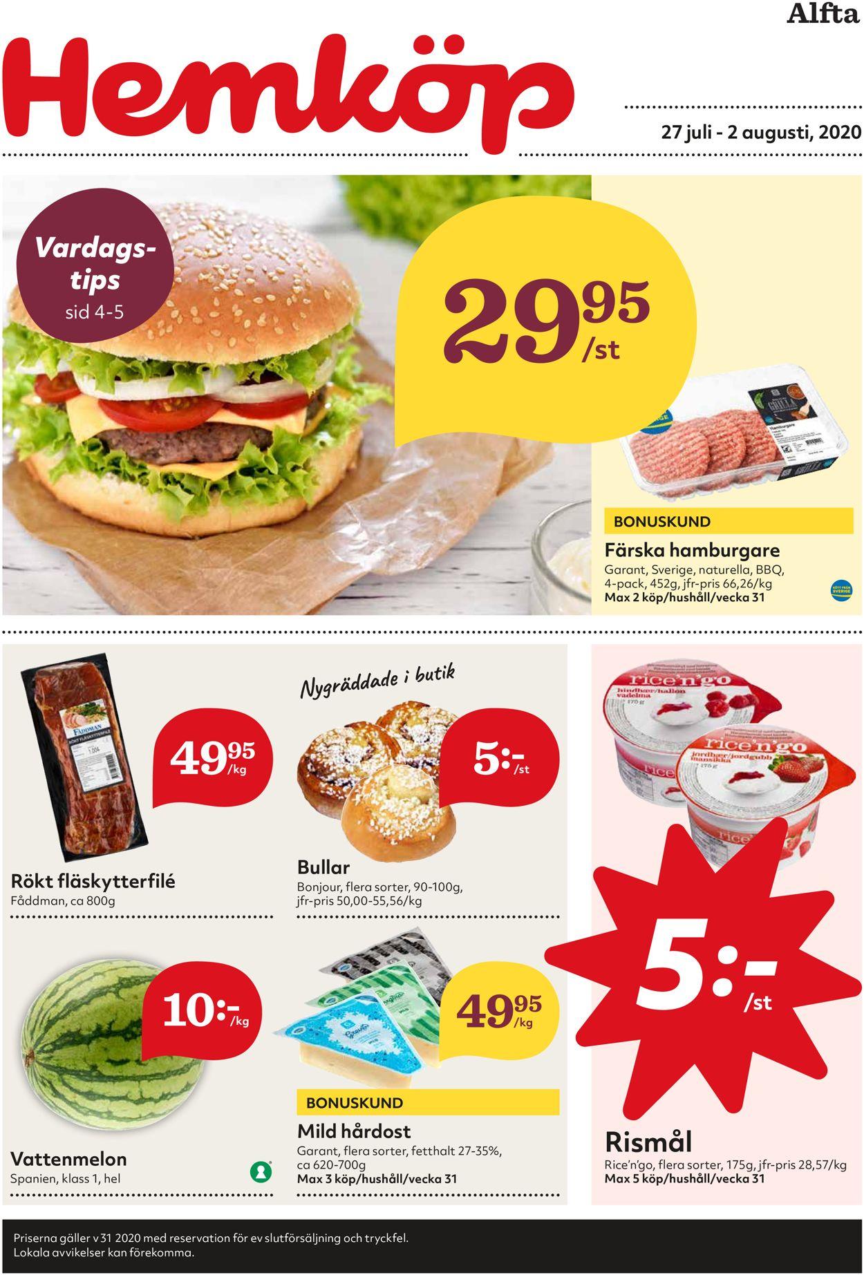 Hemköp - Reklamblad - 27/07-02/08-2020