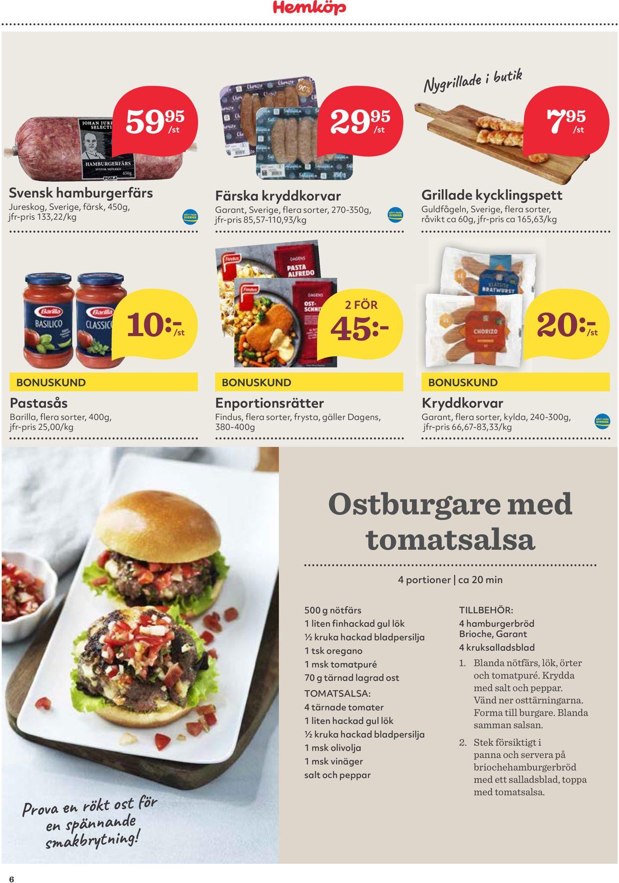 Hemköp - Reklamblad - 03/08-09/08-2020 (Sida 6)