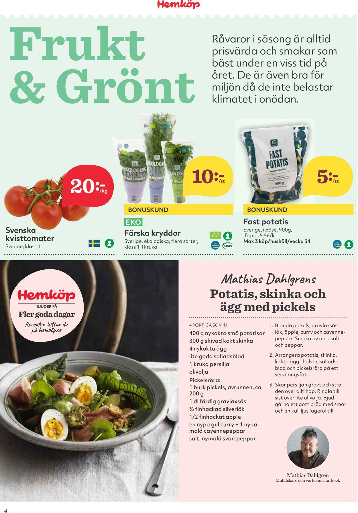 Hemköp - Reklamblad - 17/08-23/08-2020 (Sida 4)