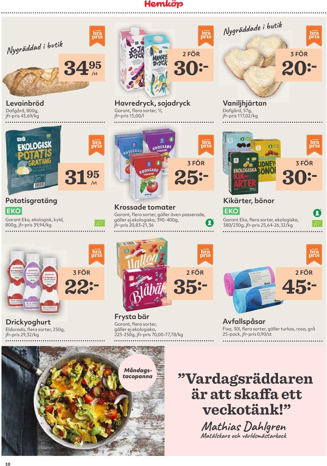 Hemköp - Reklamblad - 17/08-23/08-2020 (Sida 10)