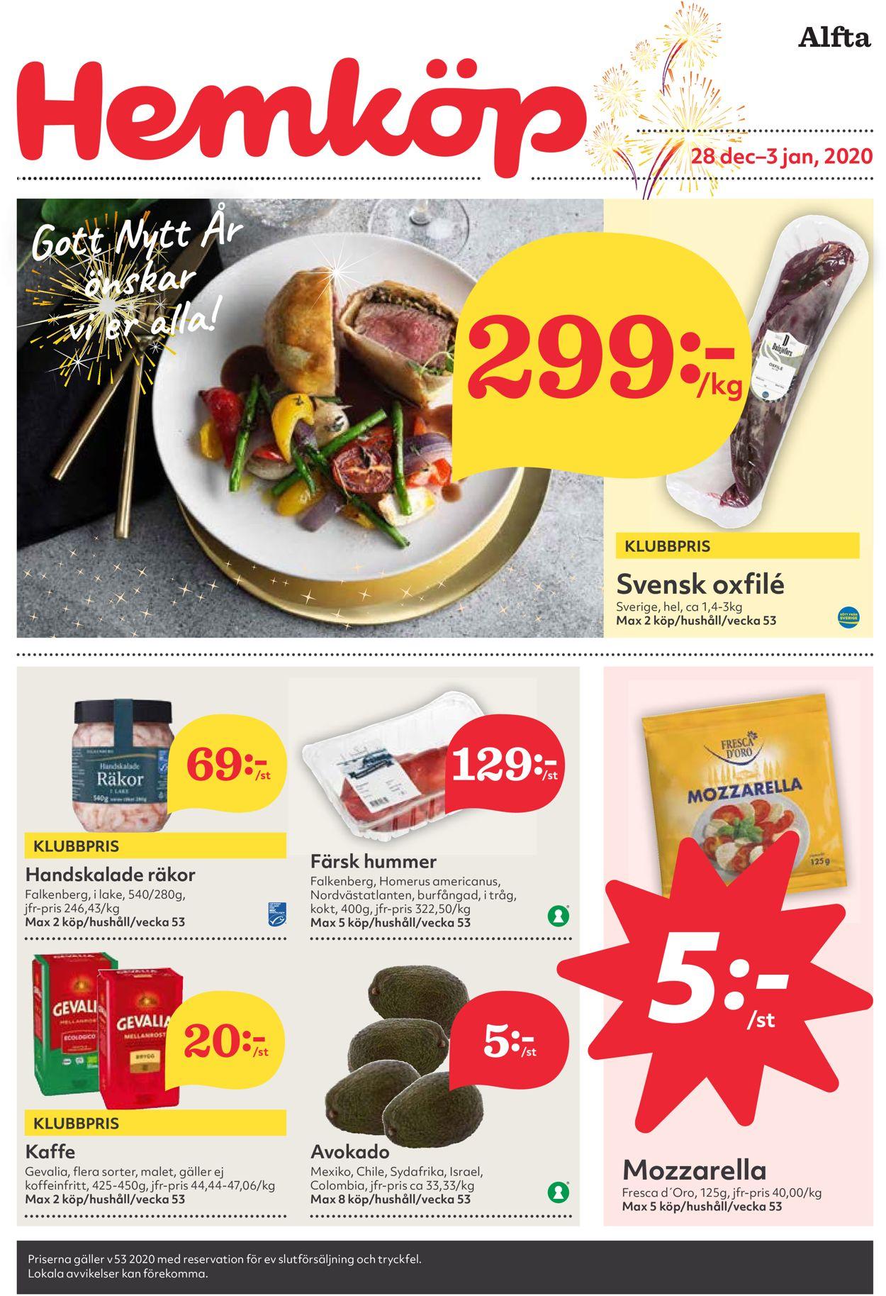 Hemköp - Julen 2020 - Reklamblad - 28/12-03/01-2021