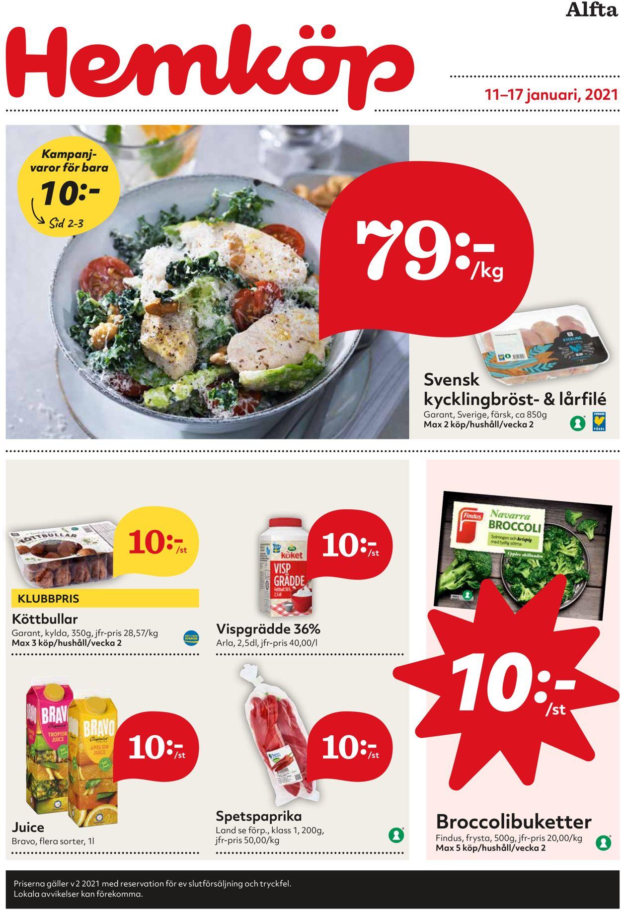 Hemköp - Reklamblad - 11/01-17/01-2021