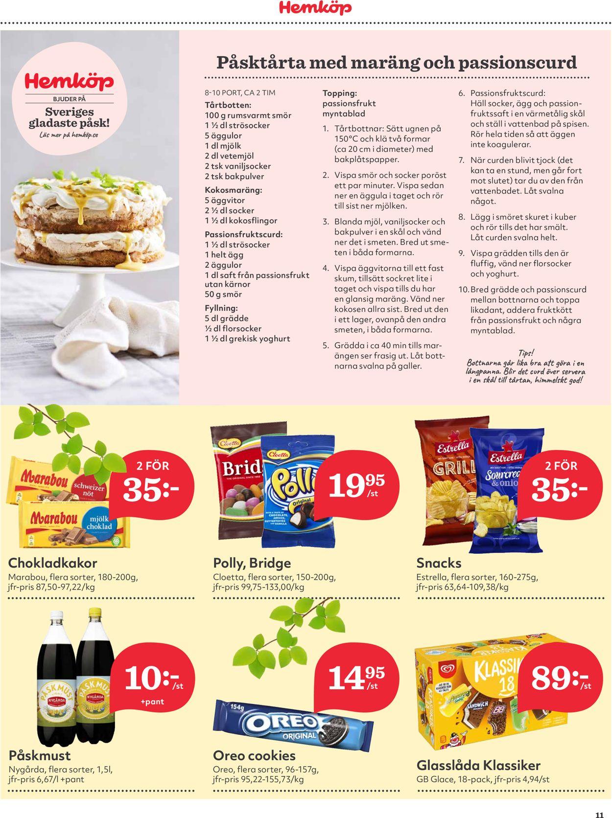 Hemköp - Reklamblad - 22/03-28/03-2021 (Sida 11)