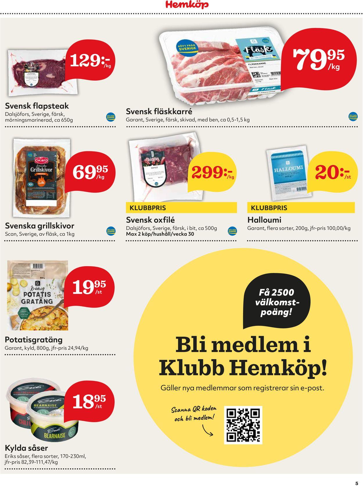 Hemköp - Reklamblad - 26/07-01/08-2021 (Sida 5)