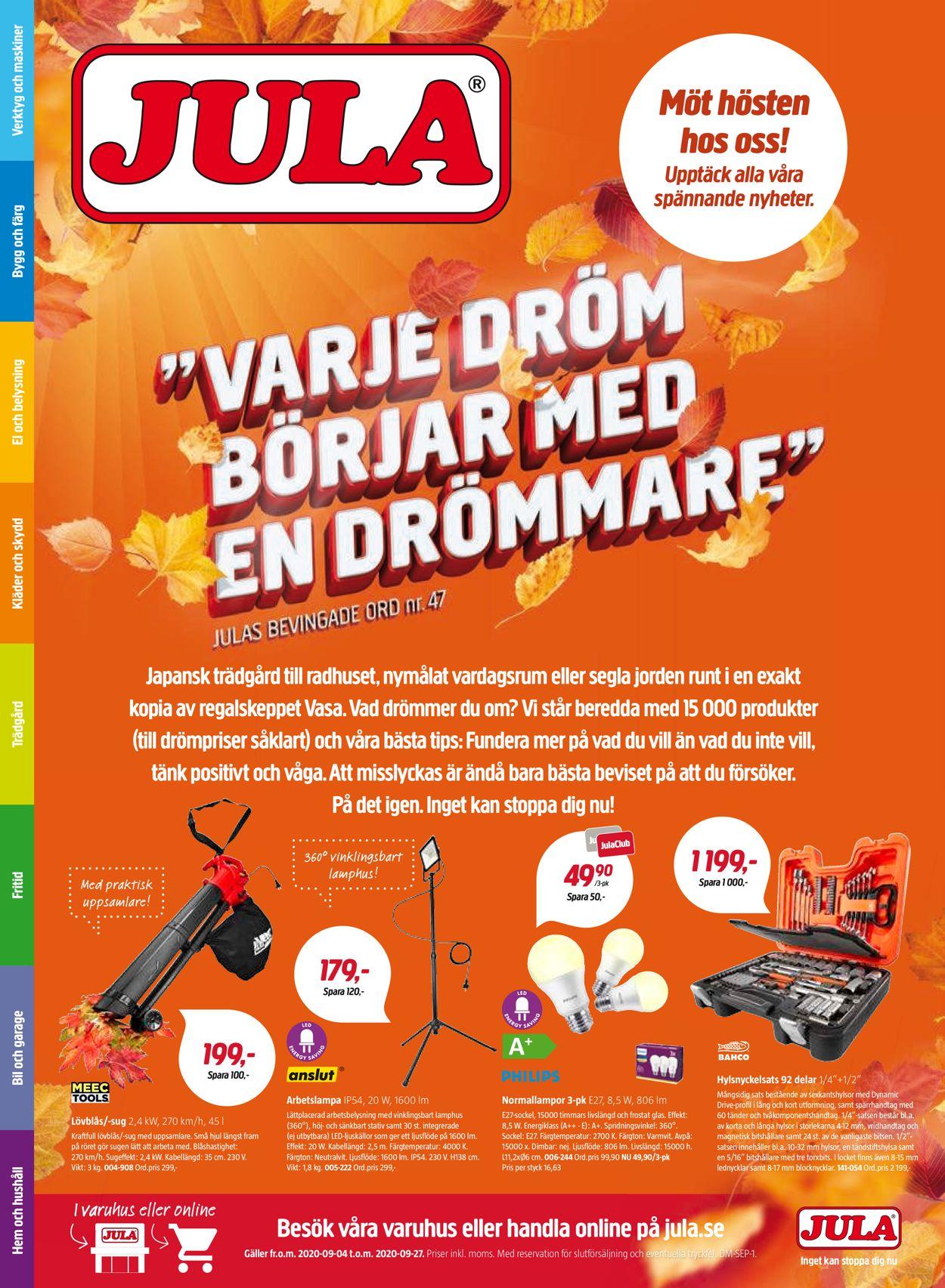 Jula - Reklamblad - 04/09-27/09-2020