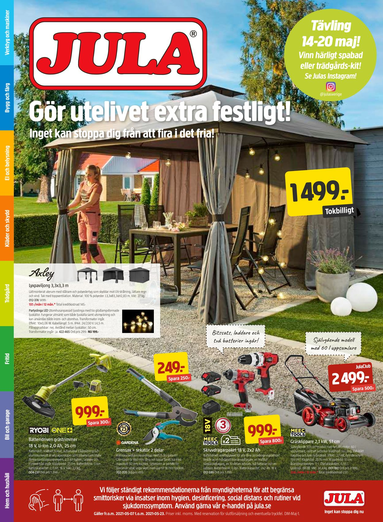 Jula - Reklamblad - 07/05-23/05-2021
