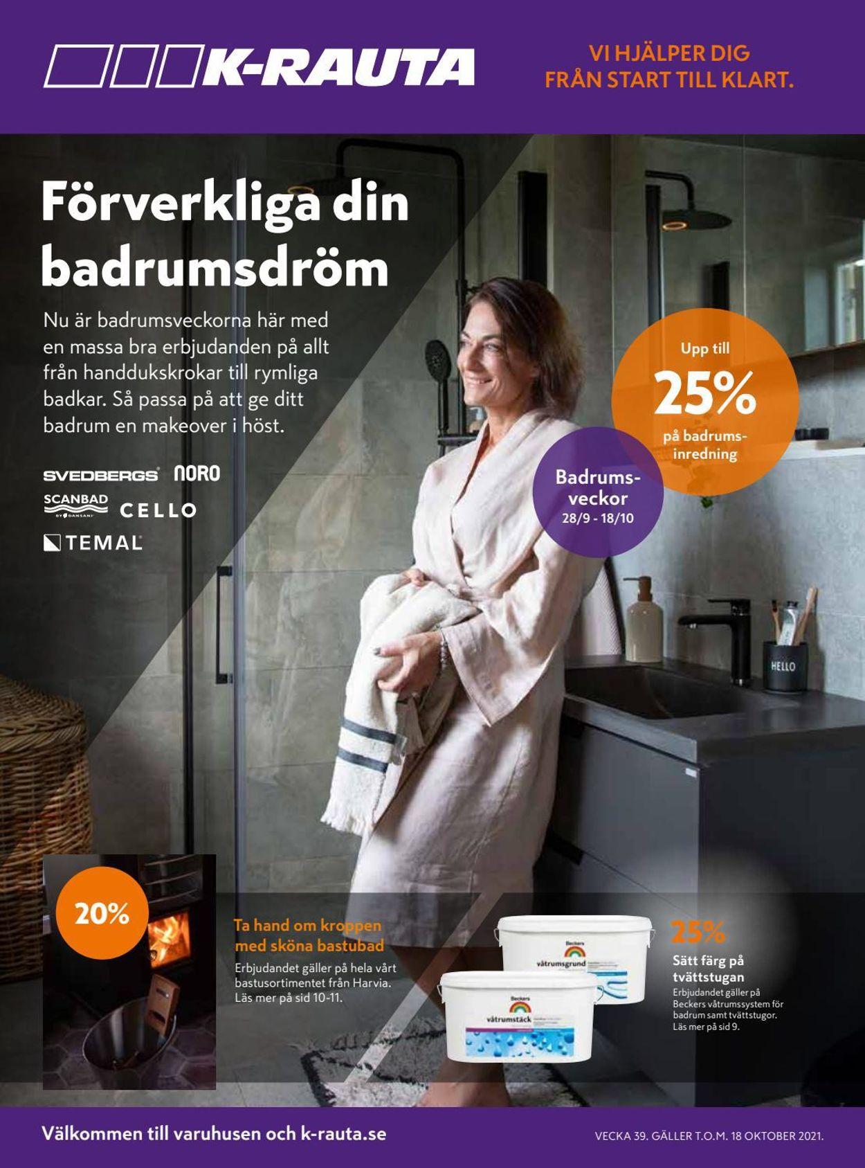 K-Rauta - Reklamblad - 28/09-18/10-2021