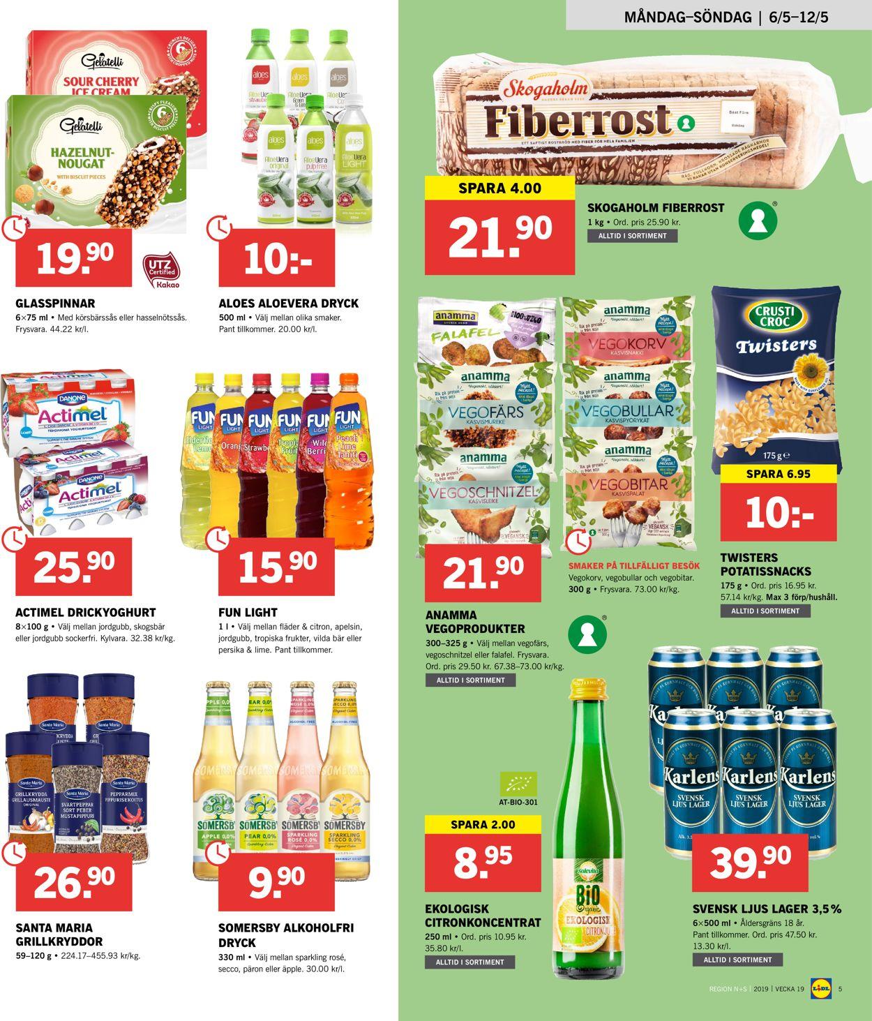 Lidl - Reklamblad - 06/05-12/05-2019 (Sida 5)