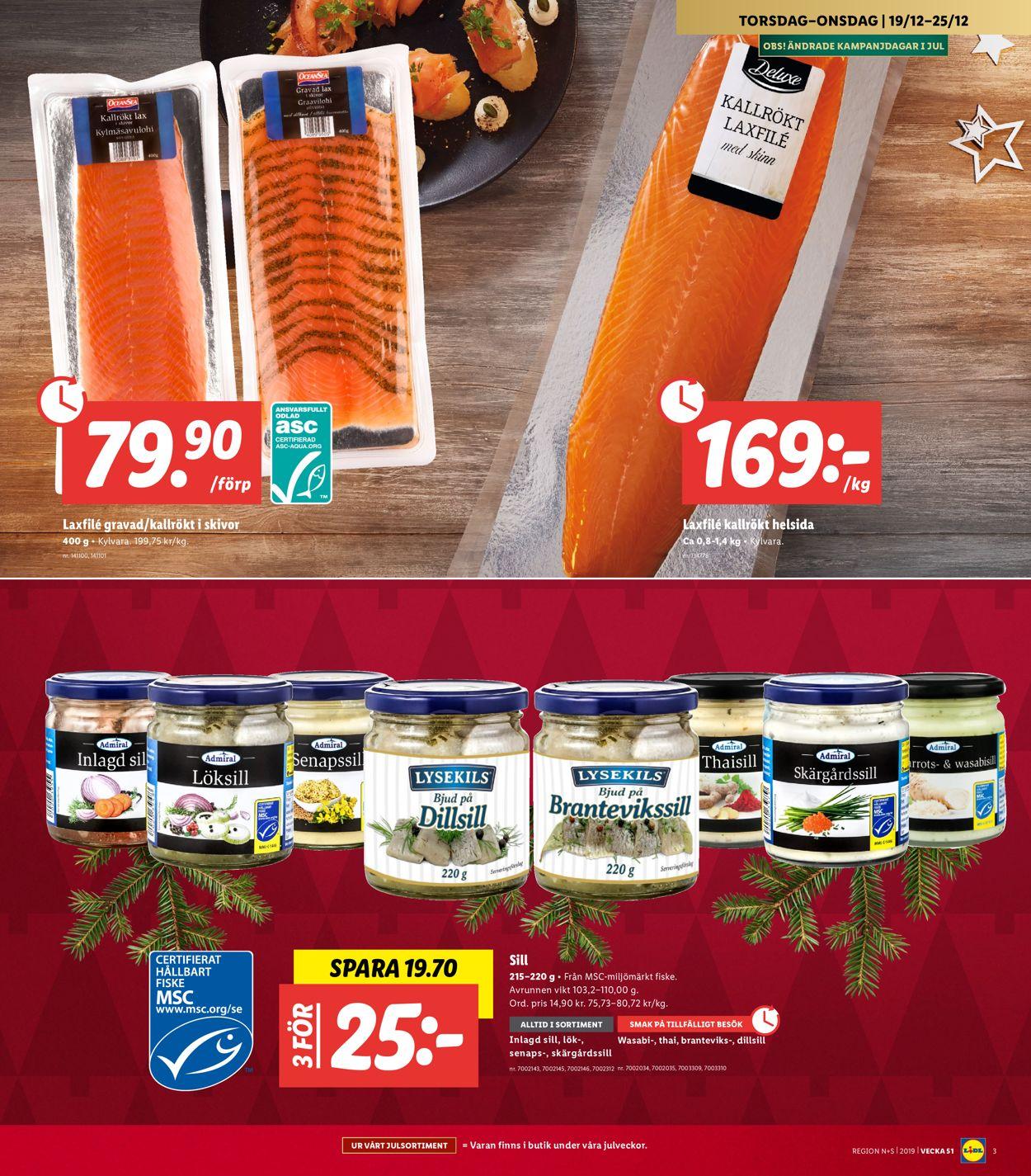 Aktuell annons Lidl Julen 2019 - Reklamblad - 19/12-25/12-2019 (Sida 3)