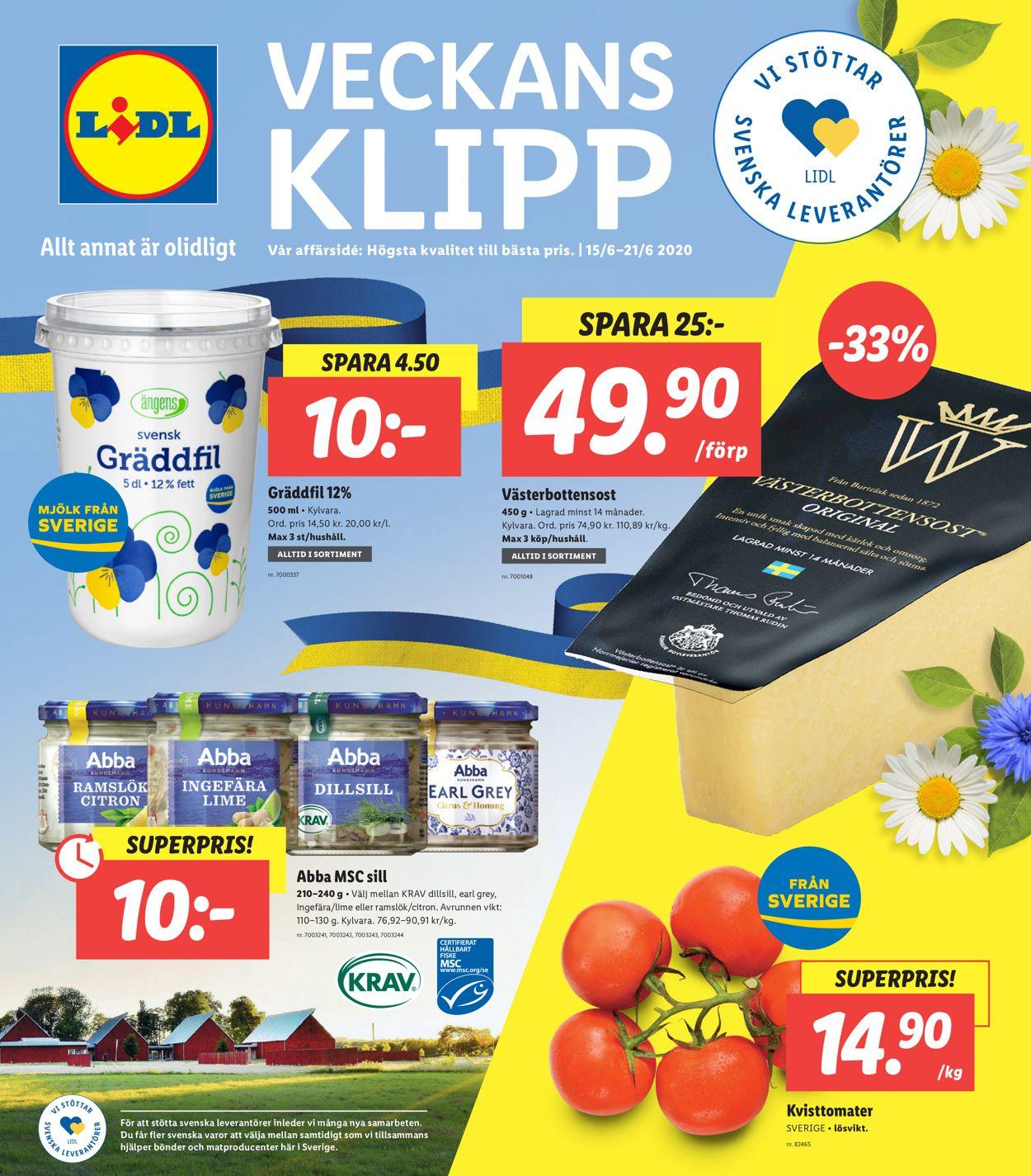 Lidl - Reklamblad - 15/06-21/06-2020