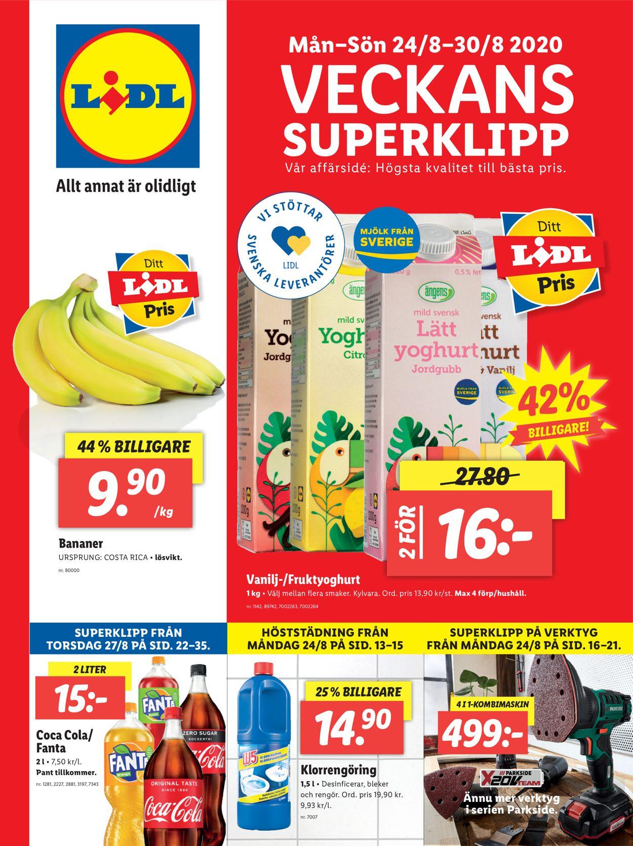 Lidl - Reklamblad - 24/08-30/08-2020