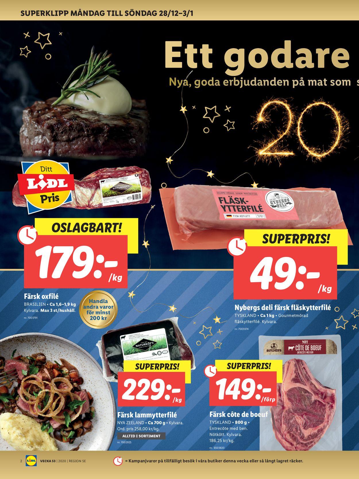 Lidl - Julen 2020 - Reklamblad - 28/12-03/01-2021 (Sida 2)