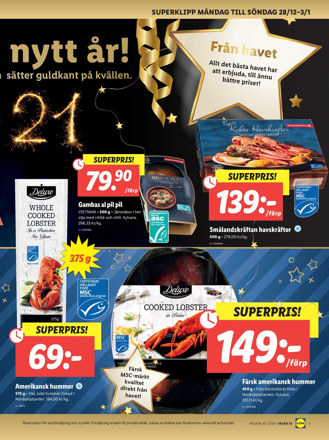 Lidl - Julen 2020 - Reklamblad - 28/12-03/01-2021 (Sida 3)