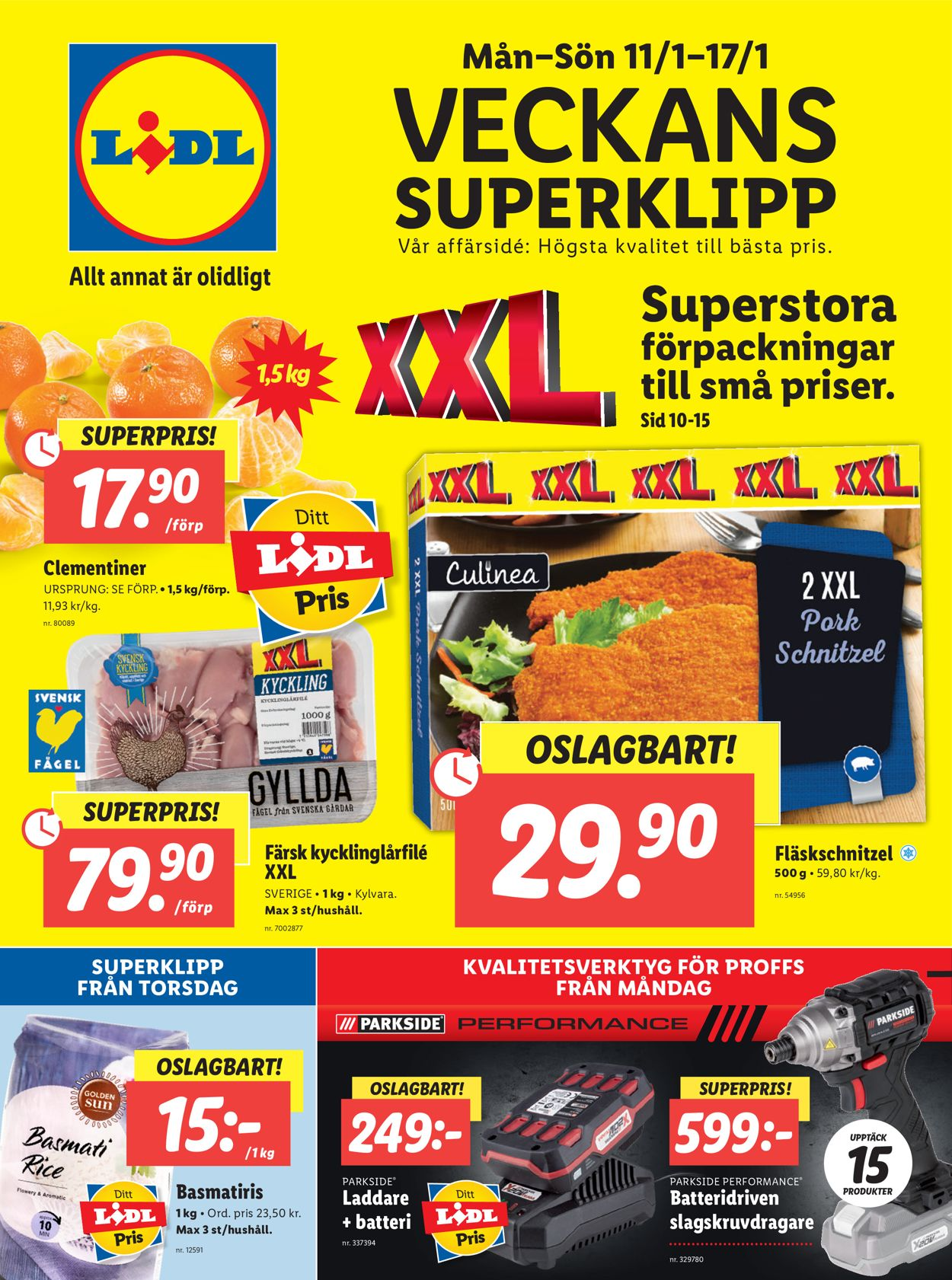Lidl - Reklamblad - 11/01-17/01-2021