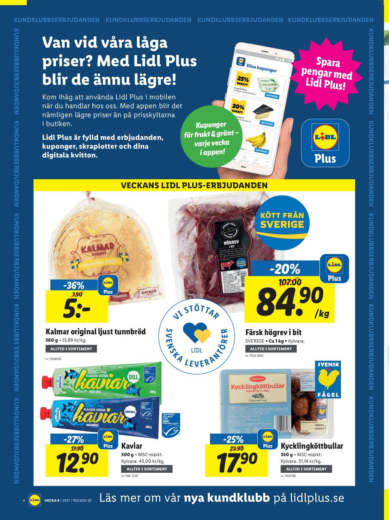 Lidl - Reklamblad - 08/02-14/02-2021 (Sida 4)