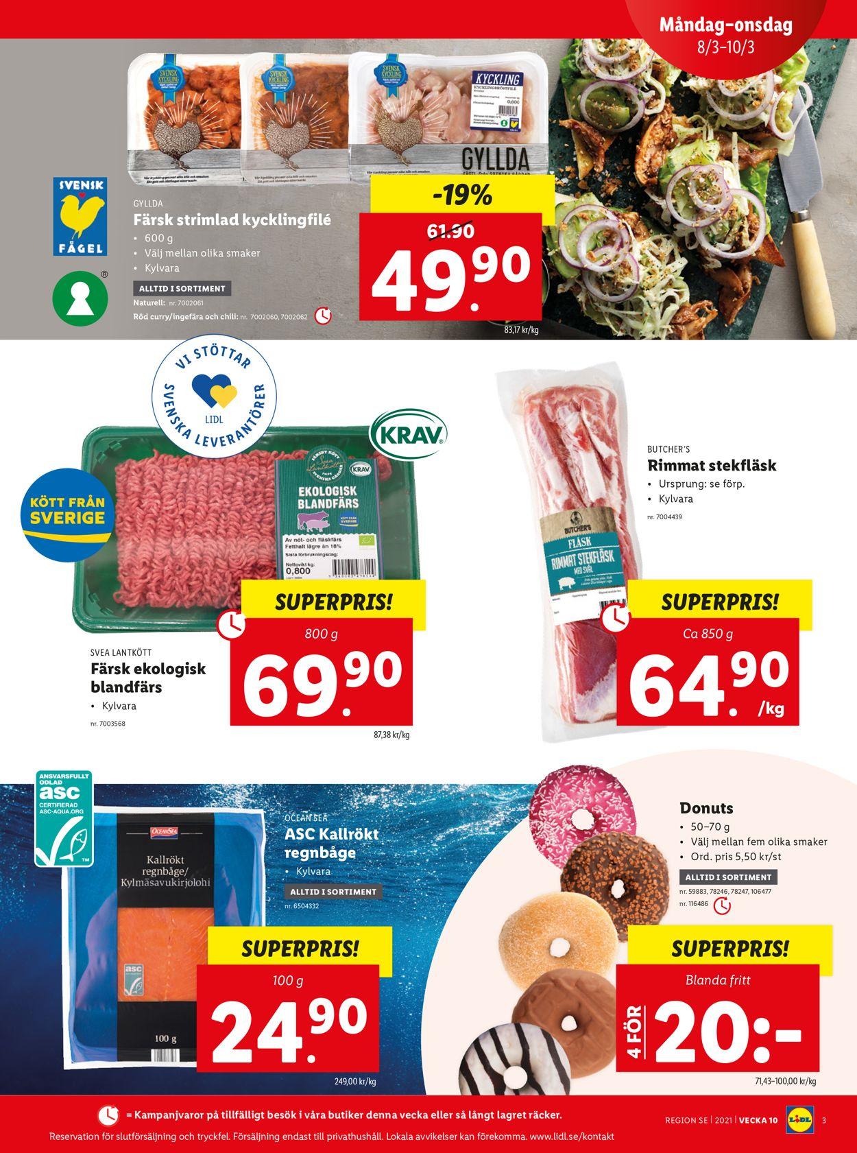 Lidl - Reklamblad - 08/03-14/03-2021 (Sida 3)
