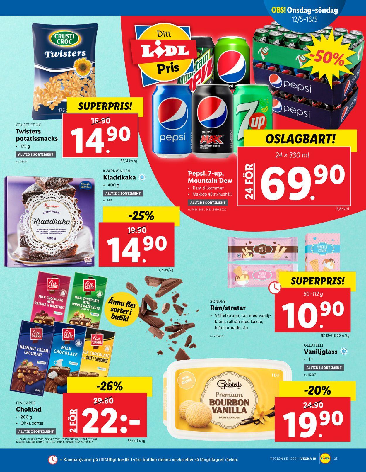 Lidl - Reklamblad - 10/05-16/05-2021 (Sida 35)