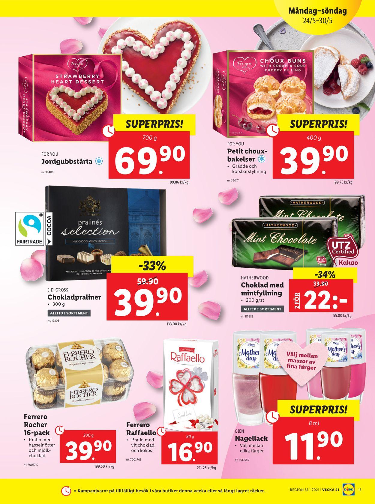 Lidl - Reklamblad - 24/05-30/05-2021 (Sida 15)