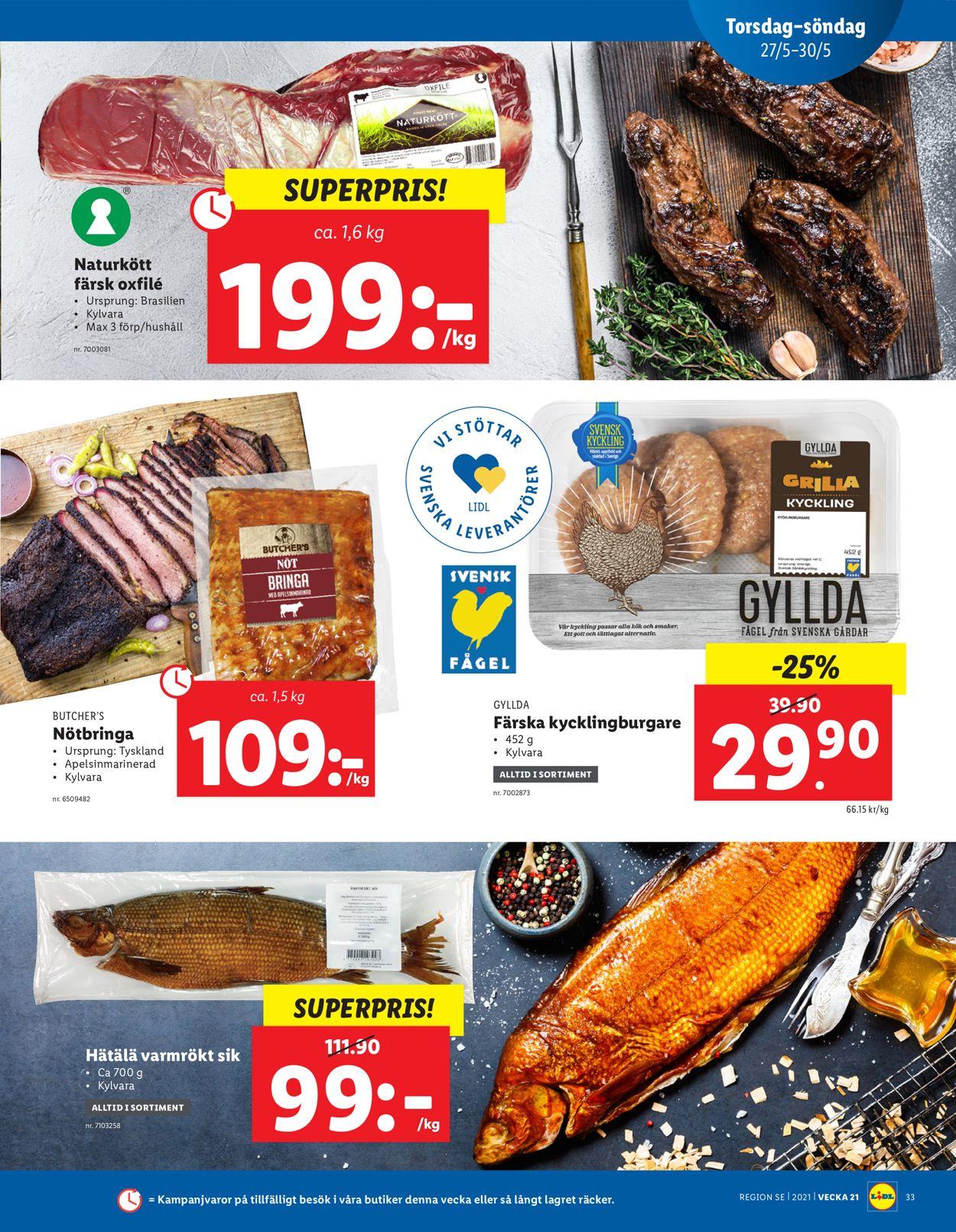 Lidl - Reklamblad - 24/05-30/05-2021 (Sida 33)