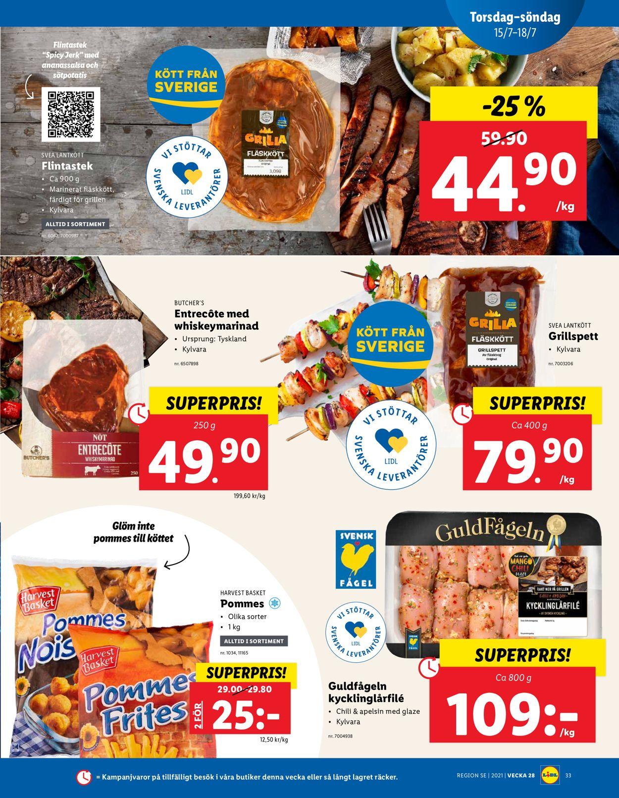 Lidl - Reklamblad - 12/07-18/07-2021 (Sida 33)