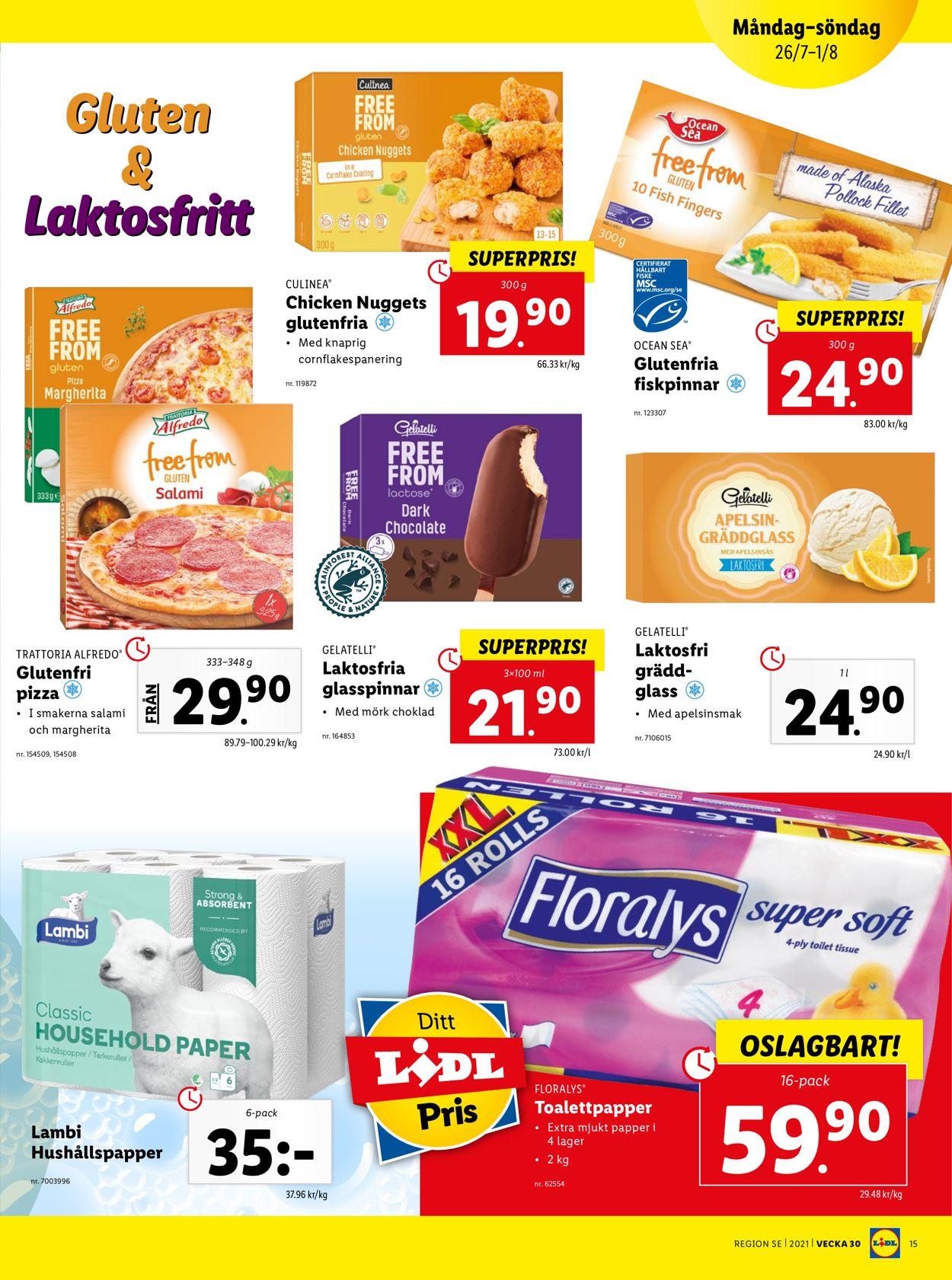 Lidl - Reklamblad - 26/07-01/08-2021 (Sida 15)