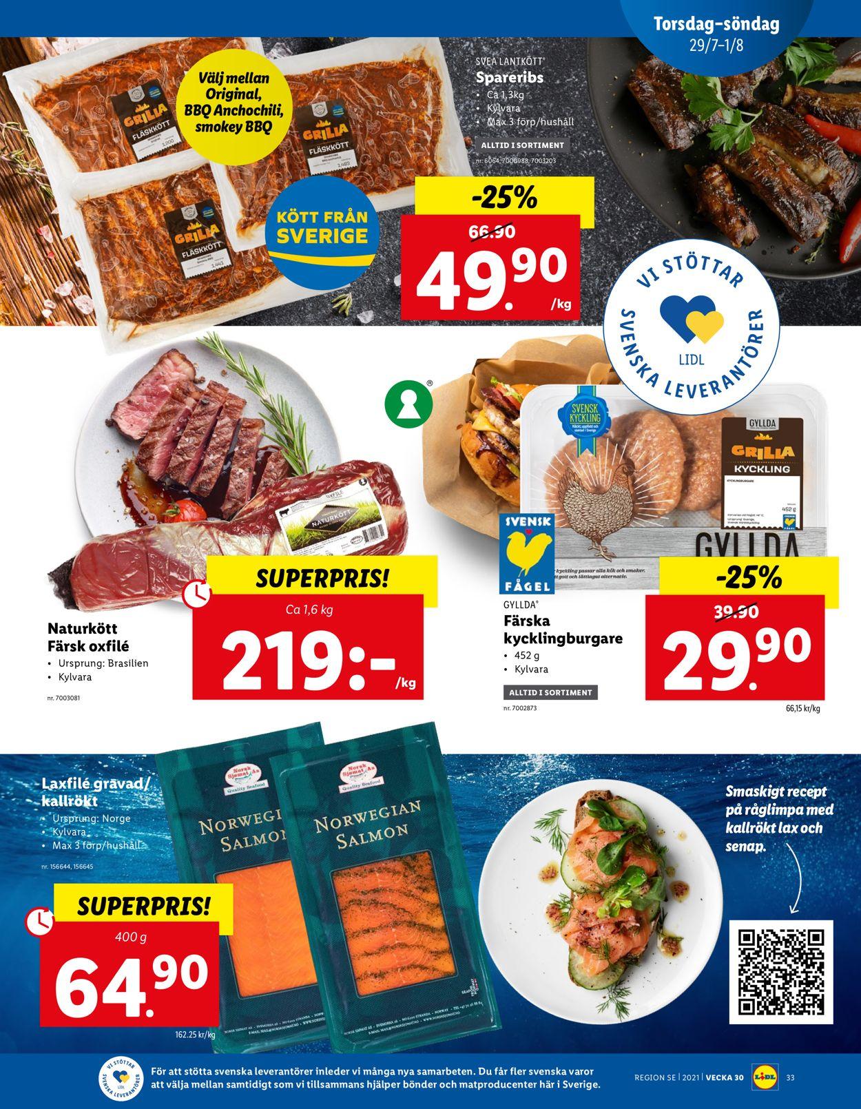 Lidl - Reklamblad - 26/07-01/08-2021 (Sida 33)