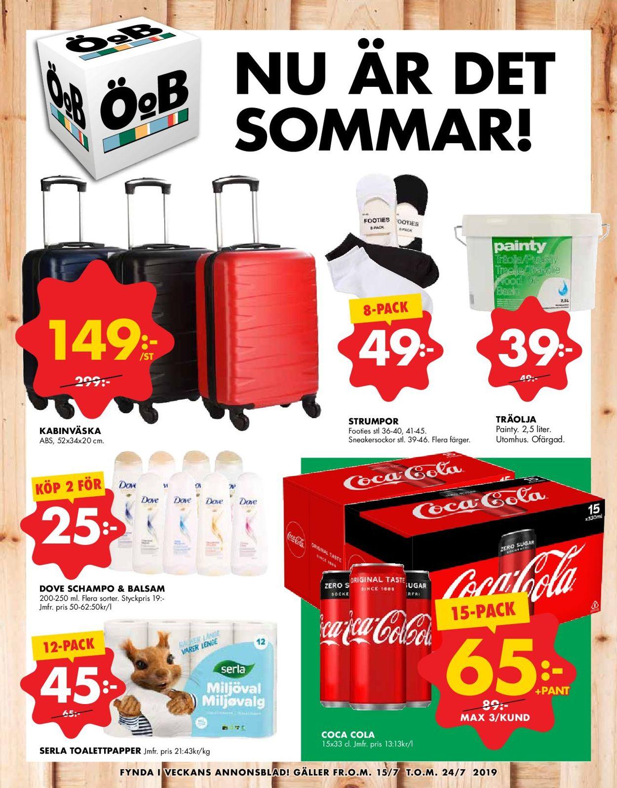 ÖoB - Reklamblad - 15/07-24/07-2019
