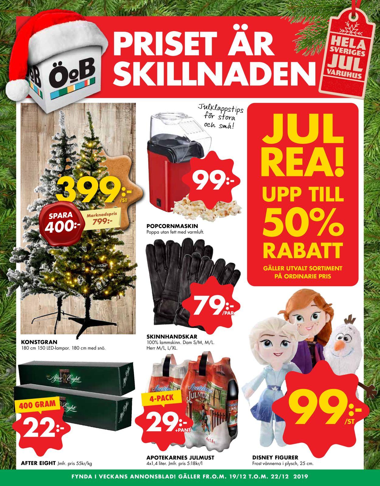 Aktuell annons ÖoB Julen 2019 - Reklamblad - 19/12-22/12-2019