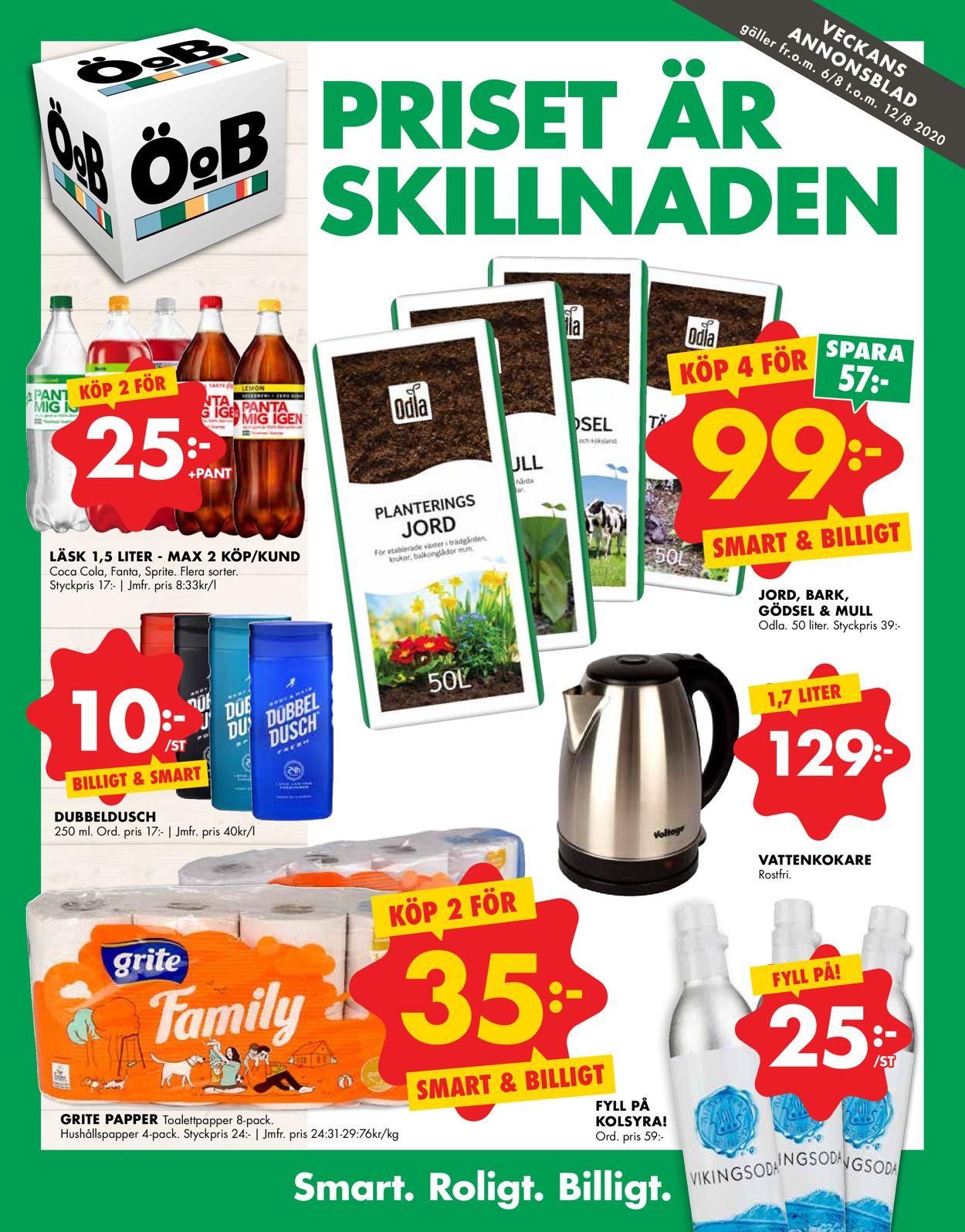 ÖoB - Reklamblad - 06/08-12/08-2020