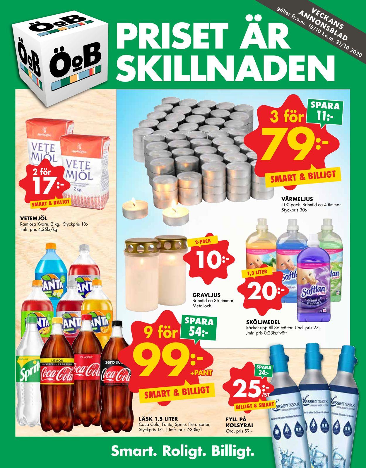 ÖoB - Reklamblad - 15/10-21/10-2020