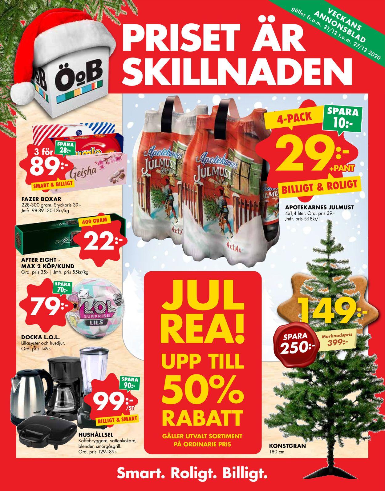 ÖoB Julen 2020 - Reklamblad - 21/12-27/12-2020