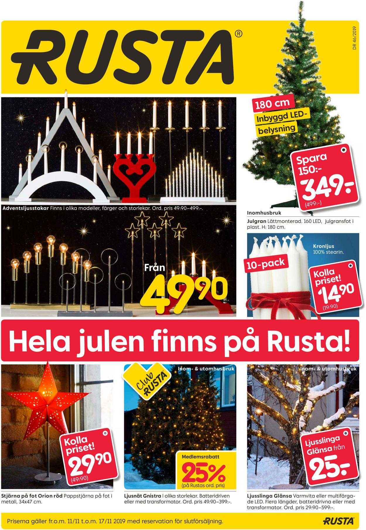 Rusta - Reklamblad - 11/11-17/11-2019