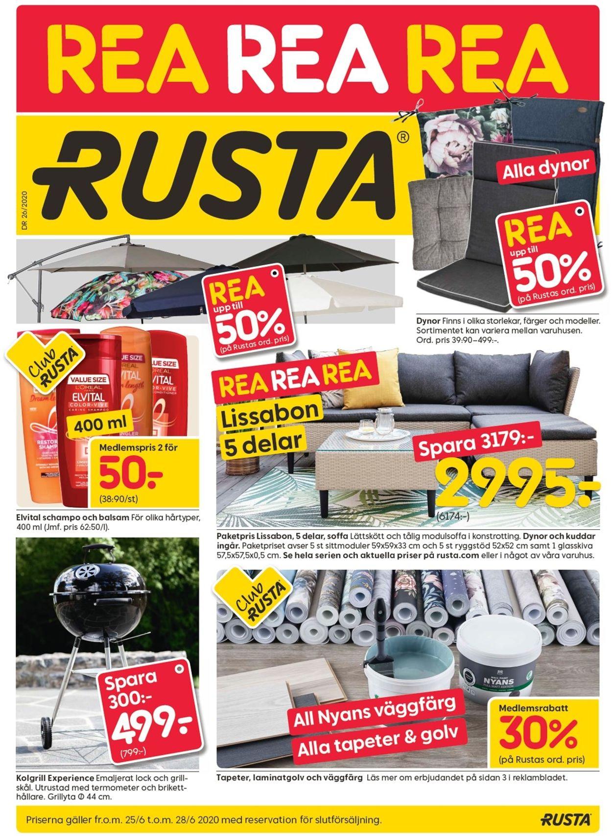 Rusta - Reklamblad - 25/06-28/06-2020