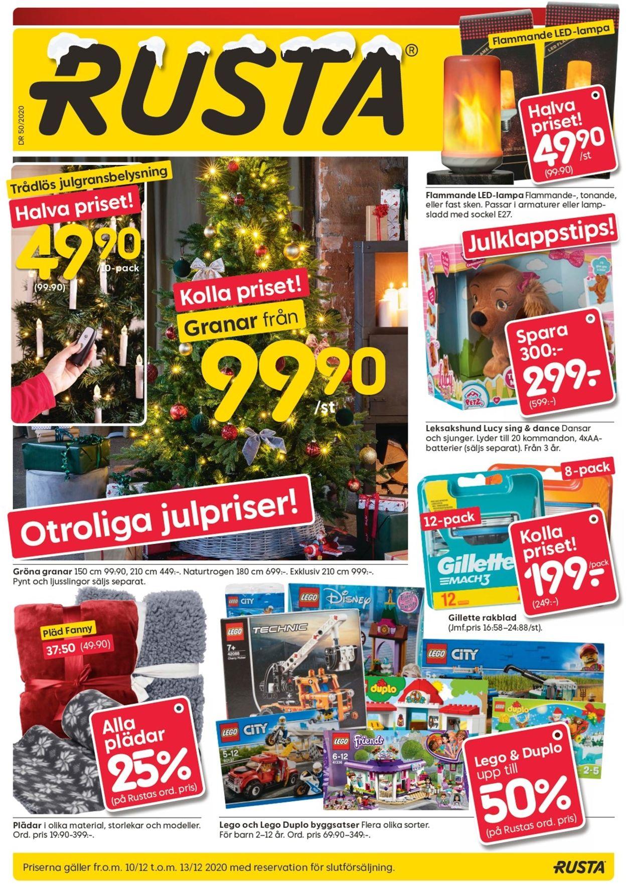 Rusta - Julen 2020 - Reklamblad - 10/12-13/12-2020