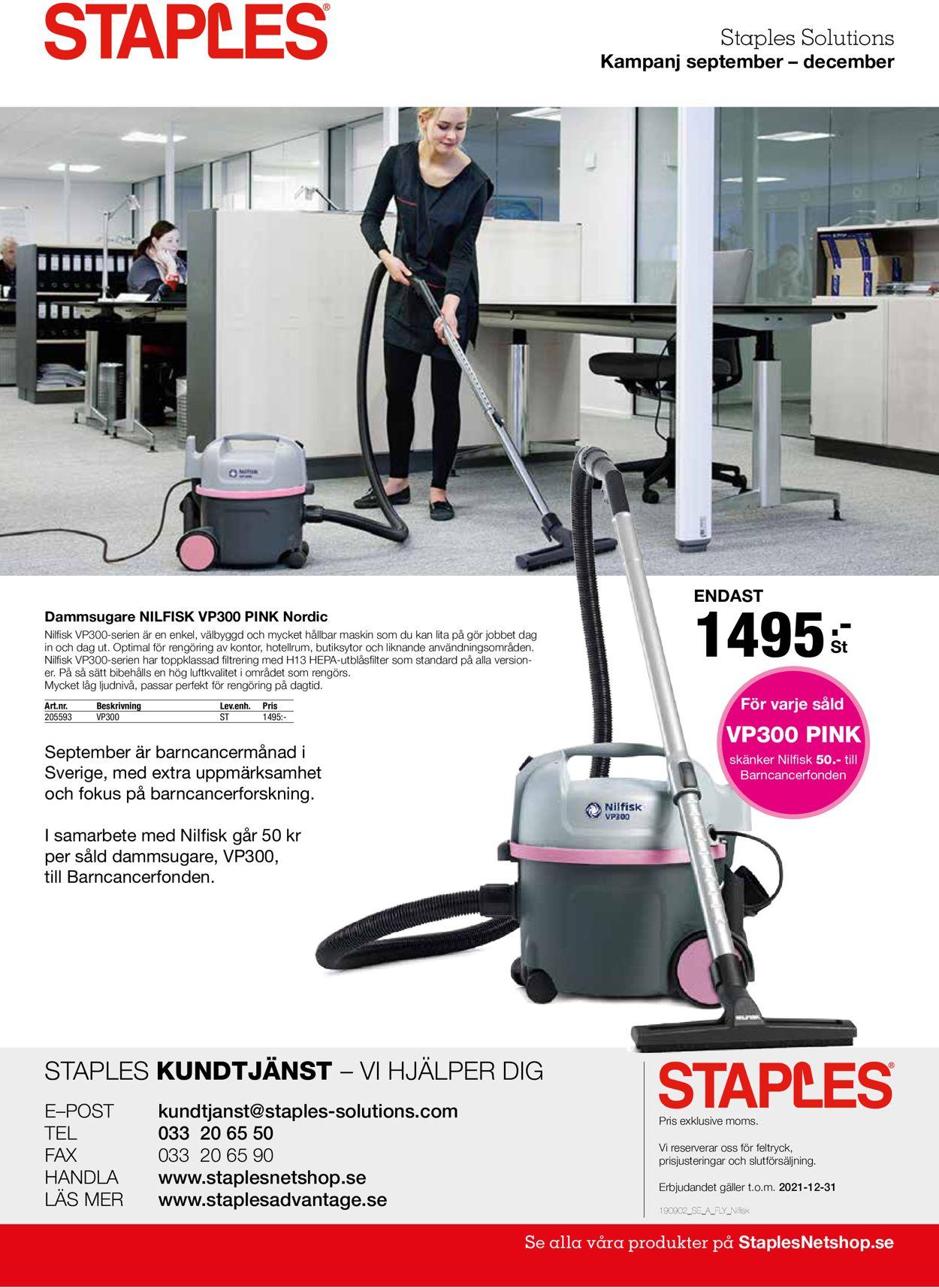 Staples - Reklamblad - 03/09-15/09-2021