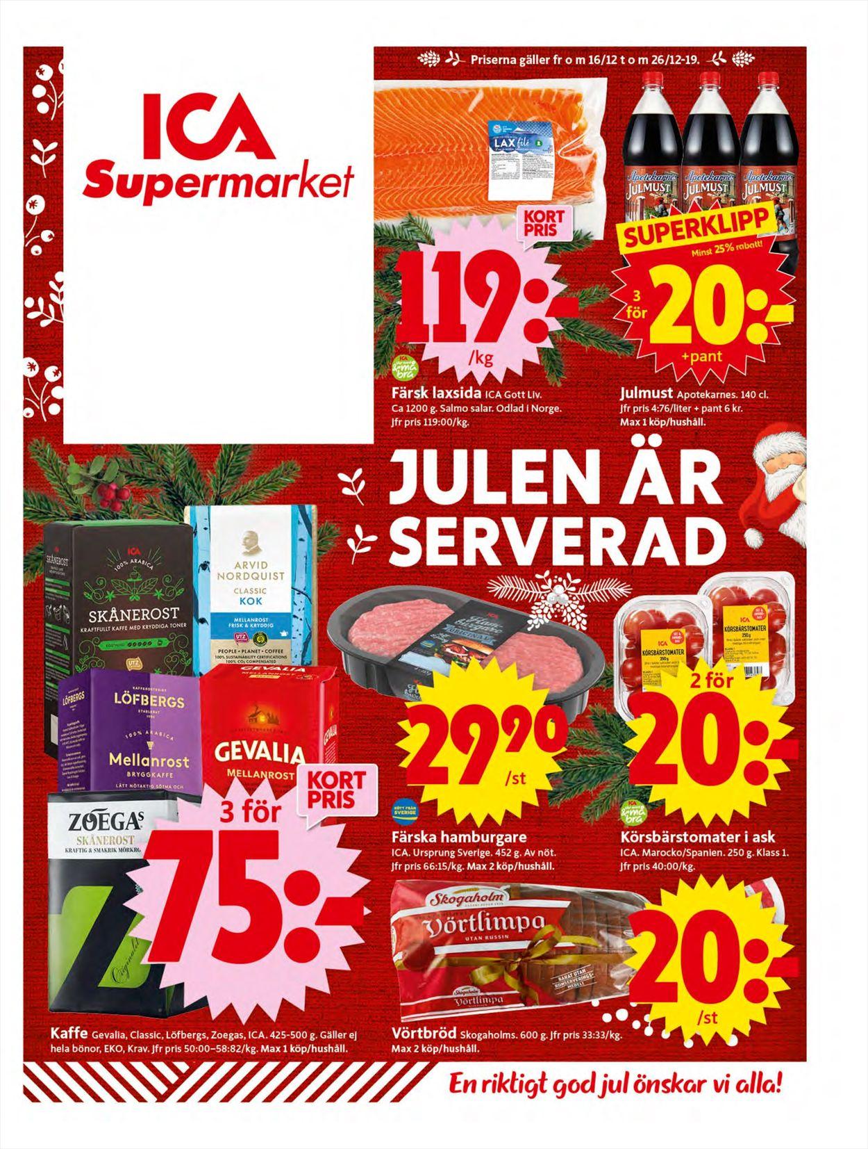 Aktuell annons ICA Julen 2019 - Reklamblad - 16/12-26/12-2019
