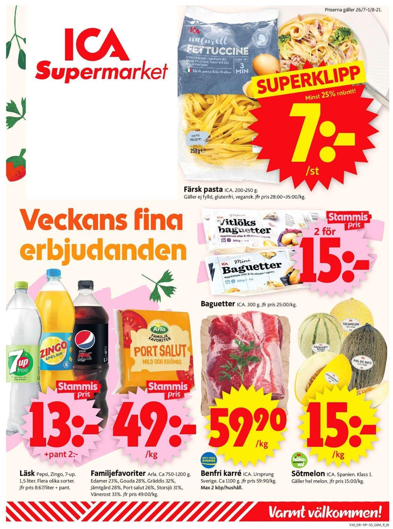 ICA - Reklamblad - 26/07-01/08-2021