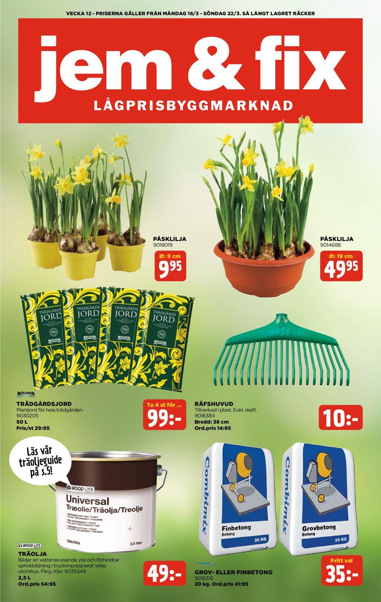 Jem & Fix - Reklamblad - 16/03-22/03-2020