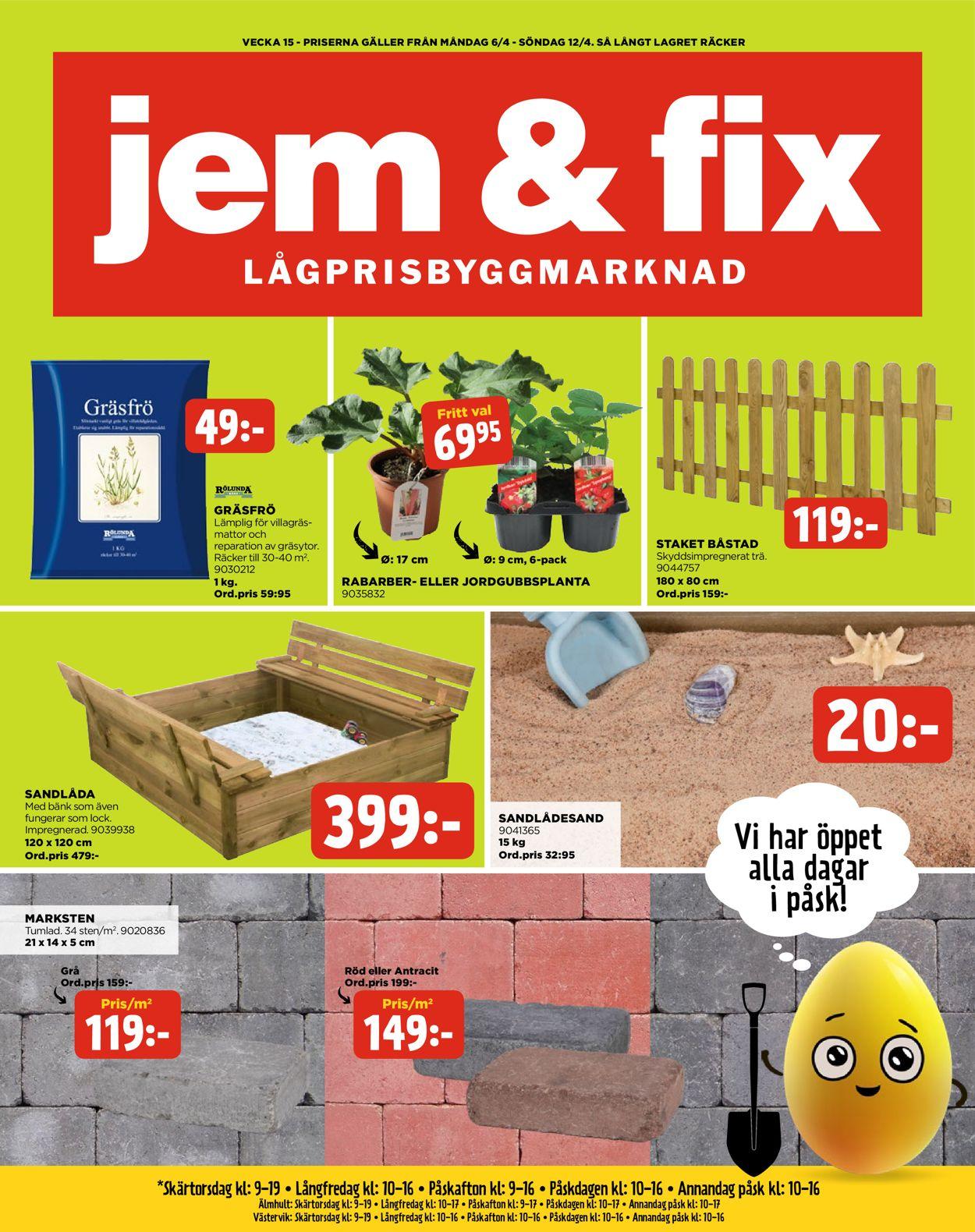 Jem & Fix - Reklamblad - 06/04-12/04-2020