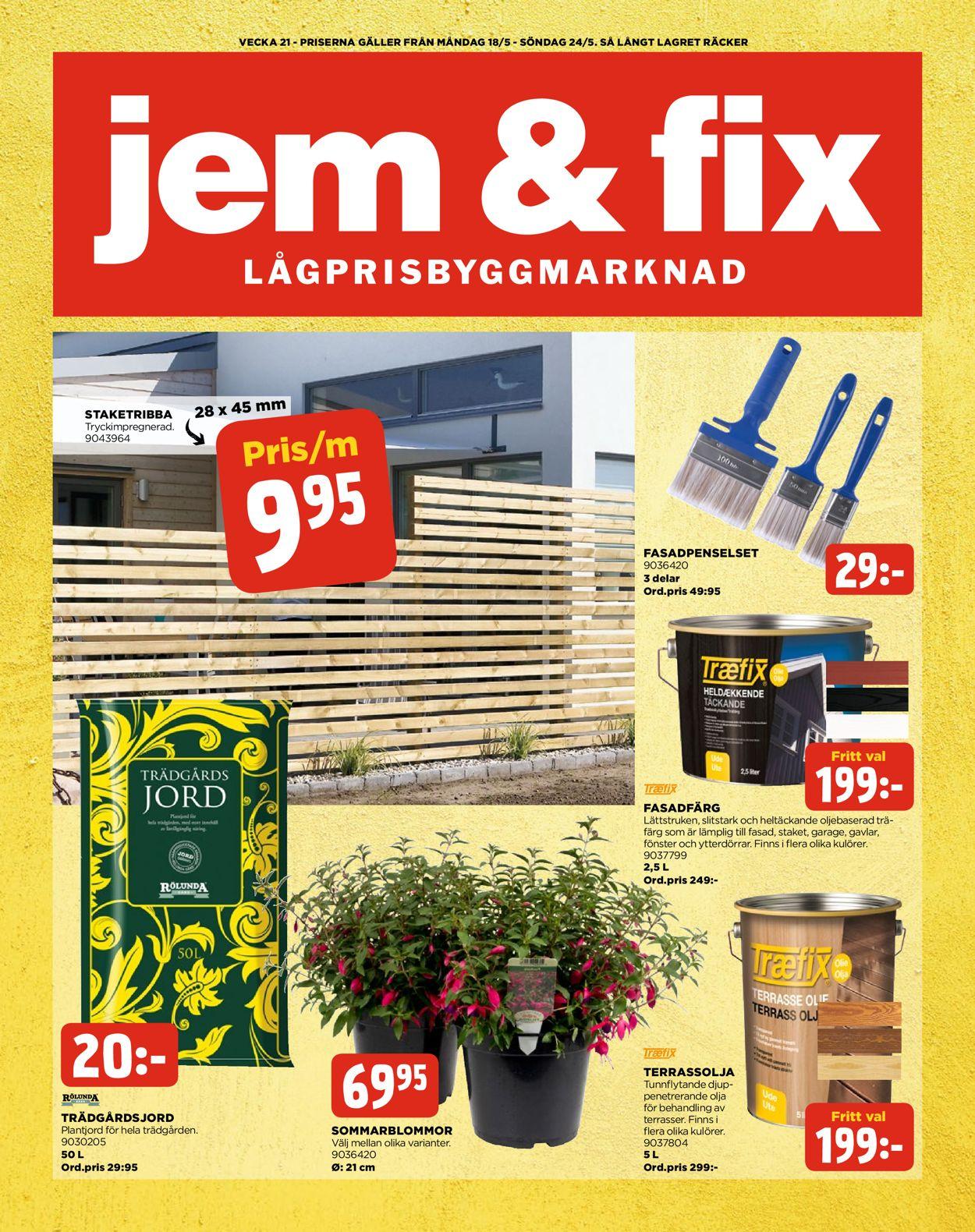 Jem & Fix - Reklamblad - 18/05-24/05-2020