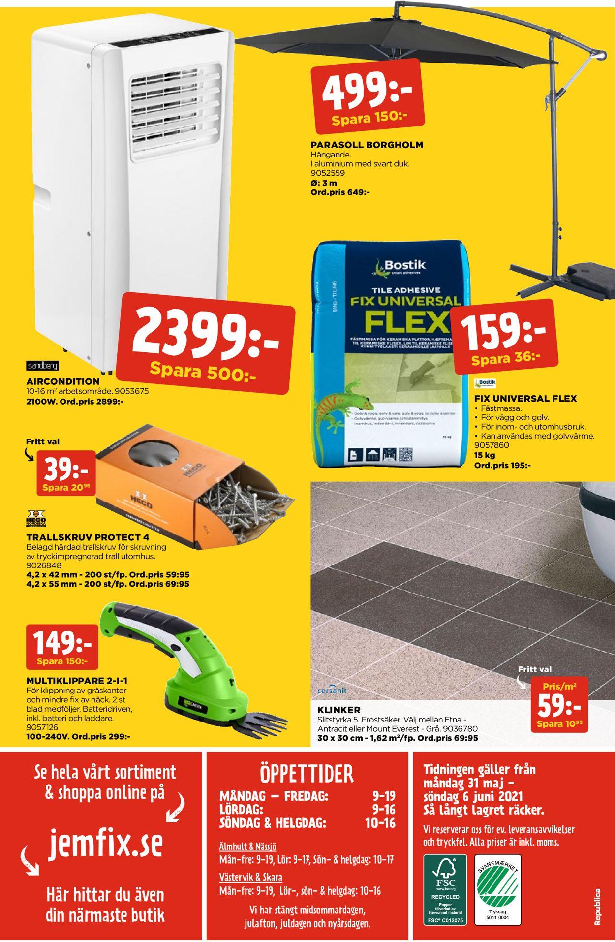 Jem & Fix - Reklamblad - 31/05-06/06-2021 (Sida 16)
