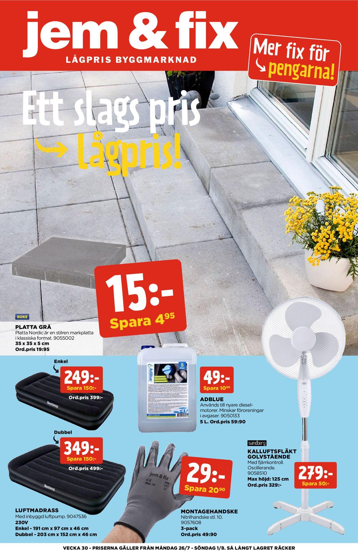 Jem & Fix - Reklamblad - 26/07-01/08-2021