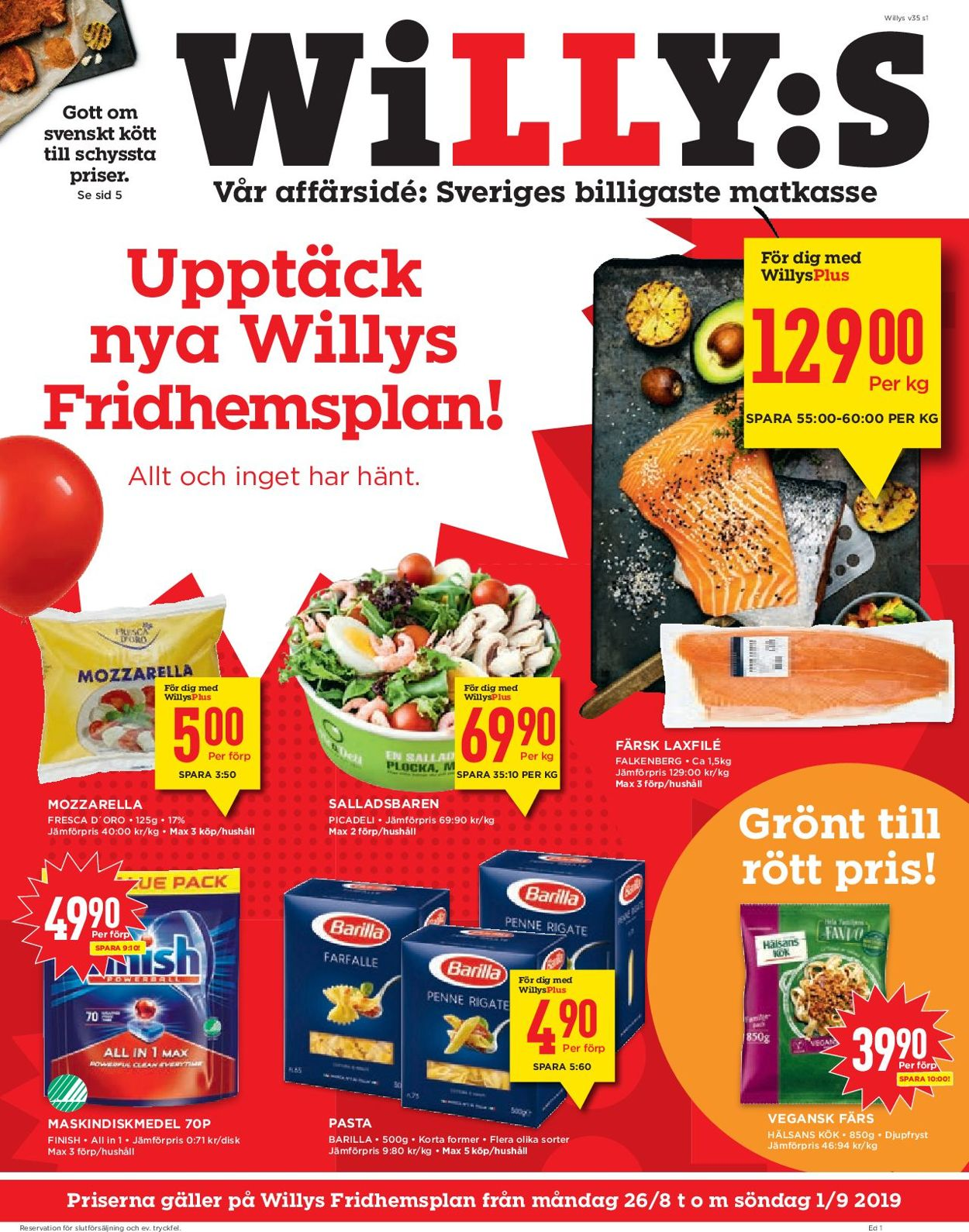 WiLLY:S - Reklamblad - 26/08-01/09-2019