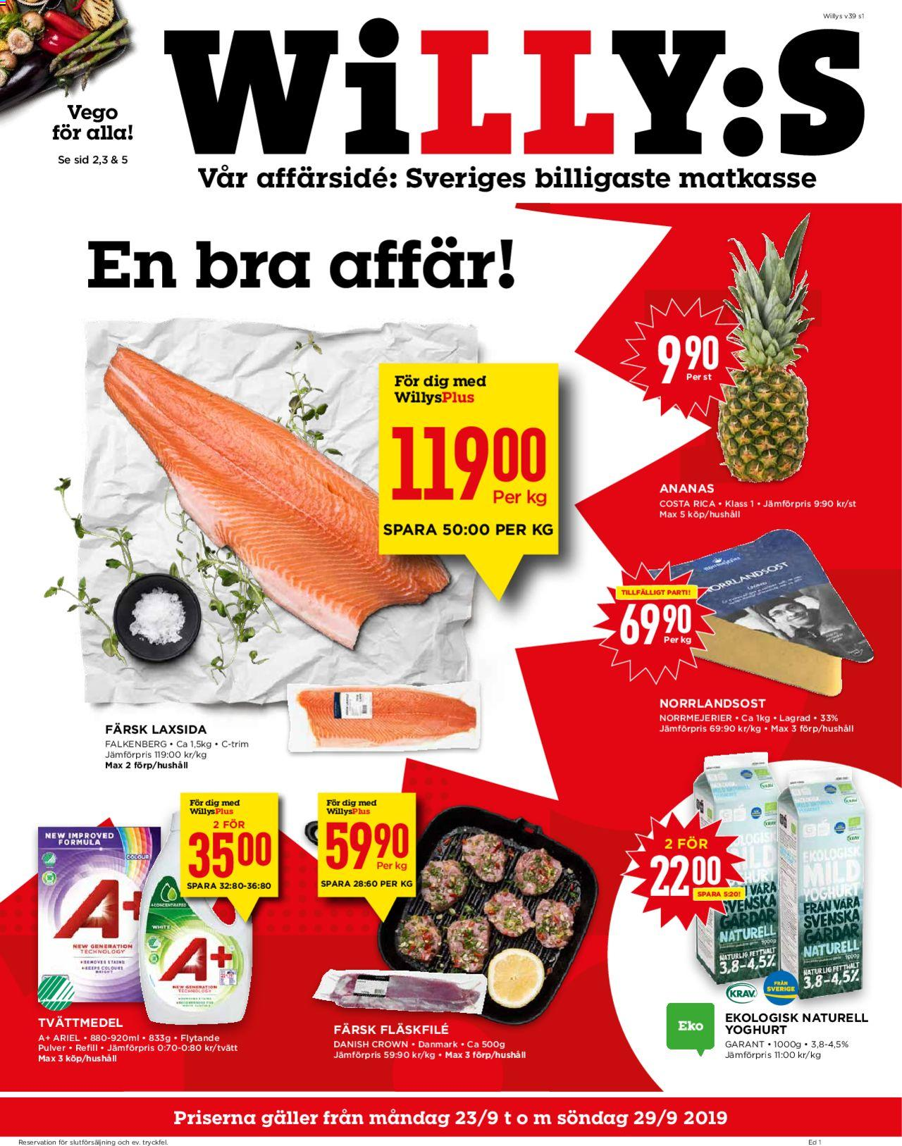 WiLLY:S - Reklamblad - 23/09-29/09-2019