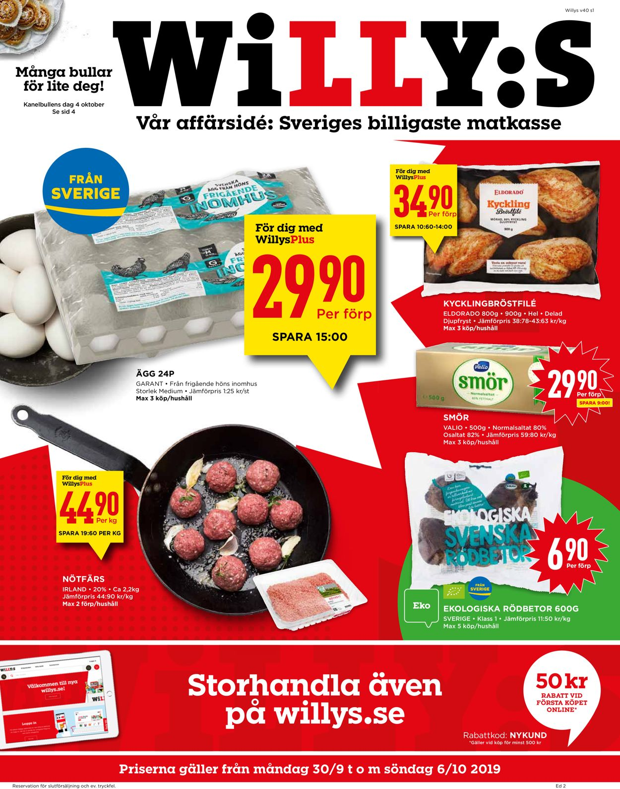WiLLY:S - Reklamblad - 30/09-06/10-2019
